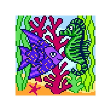 Rybka z konikiem morskim (No 5600)