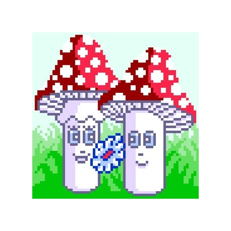 Haft krzyżykowy dla dzieci - Dwa muchomorki (No 5586)