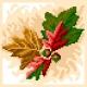 Haft krzyżykowy - do wyboru: kanwa z nadrukiem, nici Ariadna/DMC, wzór graficzny - Jesienny liść (No 5578)