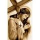 Haft krzyżykowy - do wyboru: kanwa z nadrukiem, nici Ariadna/DMC, wzór graficzny - Jezus z krzyżem (No 7048)