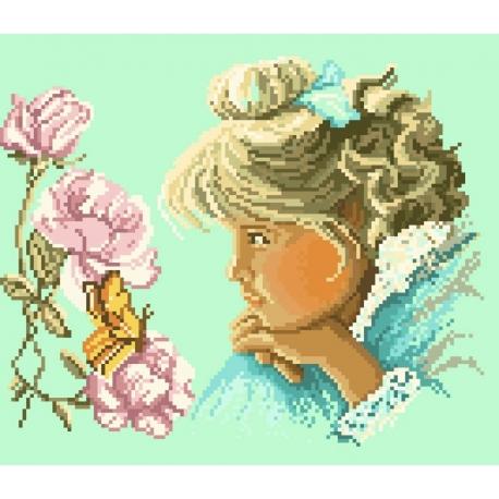Dziewczynka z motylkiem (No 5327)