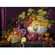 Haft krzyżykowy - do wyboru: kanwa z nadrukiem, nici Ariadna/DMC, wzór graficzny - Martwa natura - waza z owocami (No 7083)