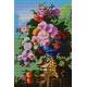 Haft krzyżykowy - wybór: kanwa z nadrukiem, nici Ariadna/DMC, wzór graficzny -  Kwiaty na patio wg Pierre Bourgogne (No 5177) VI