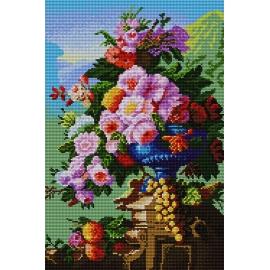 Haft krzyżykowy - zestaw do haftowania ściegiem krzyżykowym -Kwiaty na patio wg Pierre Bourgogne (No 5177)
