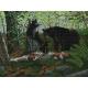 Haft krzyżykowy - do wyboru: kanwa z nadrukiem, nici Ariadna/DMC, wzór graficzny - Niedźwiedzie (No 7003)