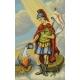 Haft krzyżykowy - do wyboru: kanwa z nadrukiem, nici Ariadna/DMC, wzór graficzny - Święty Florian (No 7089)