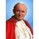 Haft krzyżykowy - do wyboru: kanwa z nadrukiem, nici Ariadna/DMC, wzór graficzny - Błogosławiony Jan Paweł II (No 7105) VI