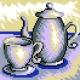 Obrazek do haftowania dla dzieci - Dzbanek z filiżanką (No 5622)