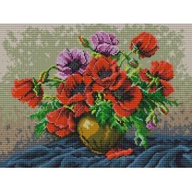 Obrazek do haftu - Maki w wazonie (No 7006)