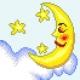 Haft krzyżykowy - do wyboru: kanwa z nadrukiem, nici Ariadna/DMC, wzór graficzny - Księżyc (No 5629)