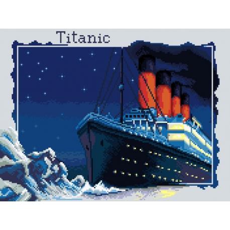 Haft krzyżykowy - do wyboru: kanwa z nadrukiem, nici Ariadna/DMC, wzór graficzny - Titanic (No 7099)