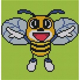 Haft krzyżykowy - do wyboru: kanwa z nadrukiem, nici Ariadna/DMC, wzór graficzny - Pszczółka (No 5213)