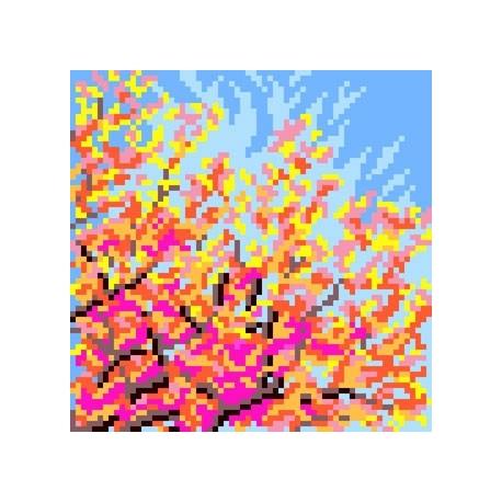 Kanwa z nadrukiem dla dzieci - Drzewo - Jesien (No 5618)