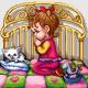 Haft krzyżykowy - do wyboru: kanwa z nadrukiem, nici Ariadna/DMC, wzór graficzny - Modlitwa - dziewczynka (No 7128)