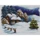 Haft krzyżykowy - do wyboru: kanwa z nadrukiem, nici Ariadna/DMC, wzór graficzny - Świąteczny wieczór wg B. Sikora (No 94553)