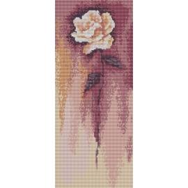 Haft krzyżykowy - do wyboru: kanwa z nadrukiem, nici Ariadna/DMC, wzór graficzny - Biała róża wg B. Sikora (No 94538) VI