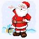 Haft krzyżykowy - do wyboru: kanwa z nadrukiem, nici Ariadna/DMC, wzór graficzny - Święty Mikołaj (No 5704)