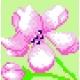 Obrazek do haftu dla dzieci  - Kwiatek (No 178)