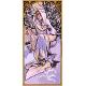 Haft krzyżykowy - do wyboru: kanwa z nadrukiem, nici Ariadna/DMC, wzór graficzny - Alfons Mucha - zima (No 7163)