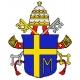 Haft krzyżykowy - do wyboru: kanwa z nadrukiem, nici Ariadna/DMC, wzór graficzny - Herb Papieski (No 7149)
