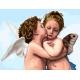 Haft krzyżykowy - do wyboru: kanwa z nadrukiem, nici Ariadna/DMC, wzór - Pierwszy pocałunek wg Bouguereau (No 7167)