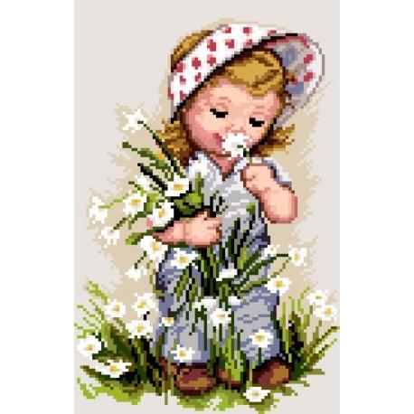 Dziewczynka z kwiatami (No 7165)