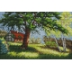 Krajobraz z domem i drzewem (No 5264)