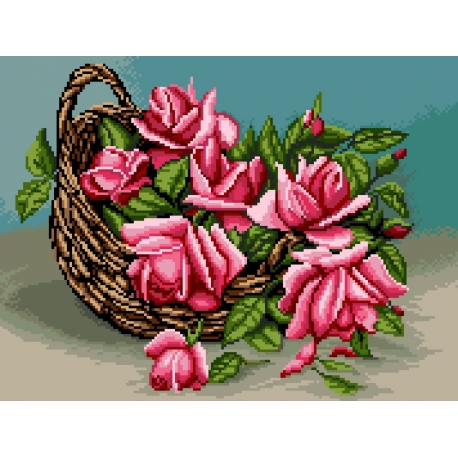 Róże w koszu (No 7187)