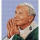 Haft krzyżykowy - do wyboru: kanwa z nadrukiem, nici Ariadna/DMC, wzór graficzny - Papież Jan Paweł II (No 7231) VI