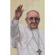 Haft krzyżykowy - do wyboru: kanwa z nadrukiem, nici Ariadna/DMC, wzór graficzny - Papież Franciszek (No 7198)