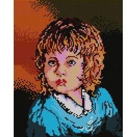 Haft krzyżykowy - kanwa z nadrukiem Dziewczynka (No 327)