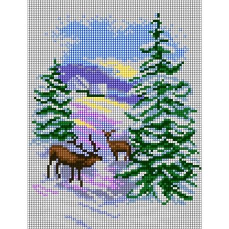 Pejzaż zimowy (No 5487)