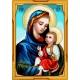Haft krzyżykowy - do wyboru: kanwa z nadrukiem, nici Ariadna/DMC, wzór graficzny - Maryja z dzieciątkiem (No 7244)