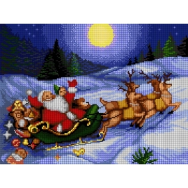 Święty Mikołaj na saniach (No 5803)