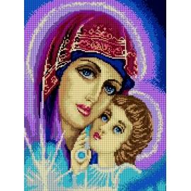 Haft krzyżykowy - do wyboru: kanwa z nadrukiem, nici Ariadna/DMC, wzór graficzny - Matka Boska (No 7242)