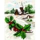 Haft krzyżykowy - do wyboru: kanwa z nadrukiem, nici Ariadna/DMC, wzór graficzny - Pejzaż zimowy (No 5805)