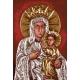 Haft krzyżykowy - do wyboru: kanwa z nadrukiem, nici Ariadna/DMC, wzór graficzny - Matka Boska (No 7240)