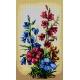 Haft krzyżykowy - do wyboru: kanwa z nadrukiem, nici Ariadna/DMC, wzór graficzny - Kwiaty (No 7210)