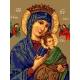 Haft krzyżykowy - do wyboru: kanwa z nadrukiem, nici Ariadna/DMC, wzór graficzny - Matka Boska Nieustającej Pomocy (No 7234) VI