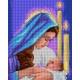 Haft krzyżykowy - do wyboru: kanwa z nadrukiem, nici Ariadna/DMC, wzór graficzny - Maryja z dzieciątkiem (No 7236)