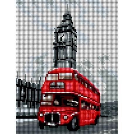 Haft krzyżykowy - do wyboru: kanwa z nadrukiem, nici Ariadna/DMC, wzór graficzny - Londyn (No 5499)