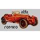 Haft krzyżykowy - do wyboru: kanwa z nadrukiem, nici Ariadna/DMC, wzór graficzny - Alfa Romeo (No 5814)
