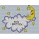 Obrazek do haftowania z okazji narodzin dziecka- prezent -Chmurka i księżyc (No 5287)