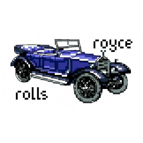 Haft krzyżykowy - do wyboru: kanwa z nadrukiem, nici Ariadna/DMC, wzór graficzny - Rolls-Royce (No 5815)
