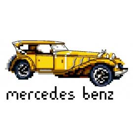 Haft krzyżykowy - do wyboru: kanwa z nadrukiem, nici Ariadna/DMC, wzór graficzny - Mercedes-Benz (No 5816)
