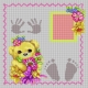 Haft krzyżykowy - do wyboru: kanwa z nadrukiem, nici Ariadna/DMC, wzór graficzny - Narodziny dziewczynki (No 7223)