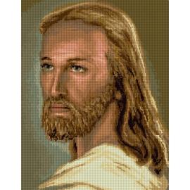 Haft krzyżykowy - do wyboru: kanwa z nadrukiem, nici Ariadna/DMC, wzór graficzny - Jezus Chrystus (No 7255) VI