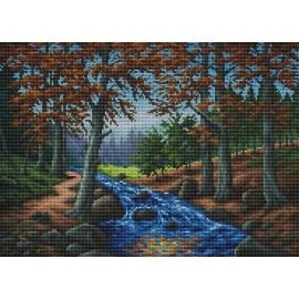 Rzeka w lesie (No 7036)