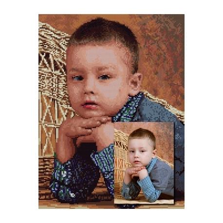 Haft krzyżykowy ze zdjęcia 30x40cm