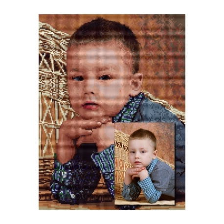 Haft krzyżykowy ze zdjęcia 30x40 cm